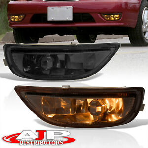 Smoked Replacement Bumper Driving Fog Lights Lamps For 2001 2002 Toyota Corolla