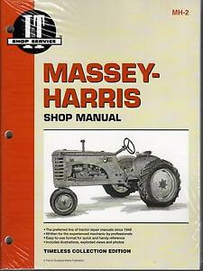 Massey harris I t 20 22 30 44 55 81 82 101 102 201 Tractor Service Manual Mh 2