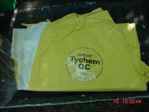 Dupont Full Suit Coverall W Hood Tychem Qc Lot Of 10 Size 4x