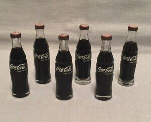 6 Vintage Miniature Glass Coca Cola COKE BOTTLES 3 1/8