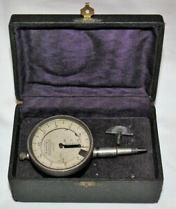 Antique Micrometer Comparator In Cadran Stone Roch Rolle Switzerland Box 1900