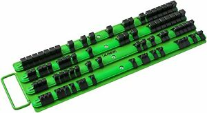 80 Piece Socket Organizer Holder With Rails For Home Garage Tool Box Green New