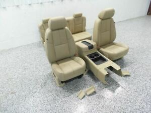 2011 Silverado 1500 Leather Seats Crew Cab Leather Seat Set W Console 529464