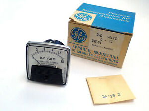 Ge General Electric Dw 91 Dc Volts Panel Meter 0 15v New