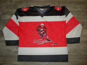 Vintage 1998 Coca-Cola Olympics Games Souvenir Hockey Jersey Uniform Size Large
