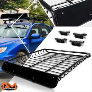 53 X 43 Mild Steel Roof Rack Van Suv Baggage Cargo Carrier Basket W Wind Fairing
