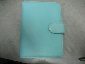 Fossil Teal Leather Passport Folio Journal Notebook Cover Notepad