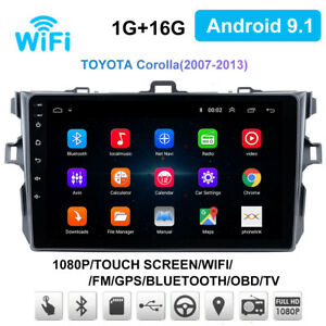 For Toyota Corolla 2006 2012 Gps Navigation Android 9 1 Car Stereo Radio Wifi Bt