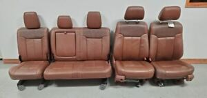 2011 2016 Ford F350 King Ranch Crew Cab Front Rear Leather Seats Heat Cool