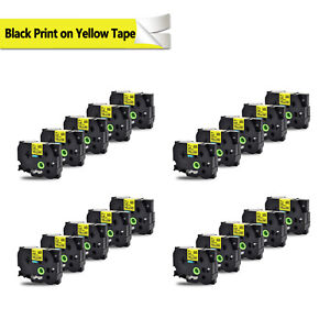 20x Compatible For Brother Tz651 Tze651 Black On Yellow Label Tape P touch 0 94