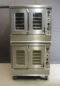 Montague 2 115a Series Bakery Depth Double Stack Gas Convection Oven 2