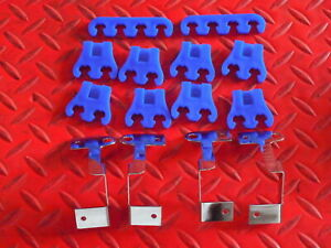 Spark Plug Wire Divider Separator Set New Spectre Chrome And Blue 7 8 5 Mm