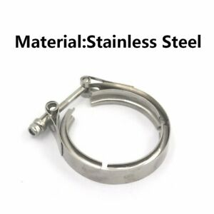 3 5 Universal Stainless Steel V Band Turbo Downpipe Exhaust Clamp Kit
