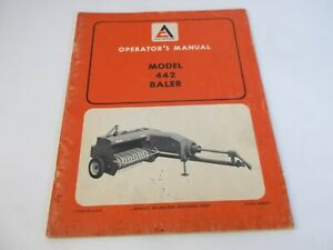 Allis chalmers Model 442 Baler Operator s Manual