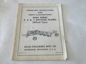 Allis chalmers 9000 Series 5 6 7 Bottom Plows Operation Parts Manual