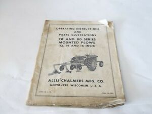 Allis chalmers 70 80 Series Mounted Plows 12 14 16 Operation Parts Manual