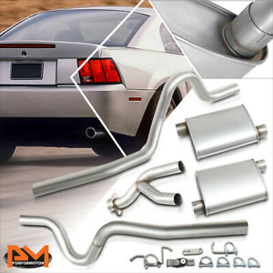 For 99 04 Ford Mustang 3 8l 3 9l V6 2 5 Od Dual Muffler Catback Exhaust System