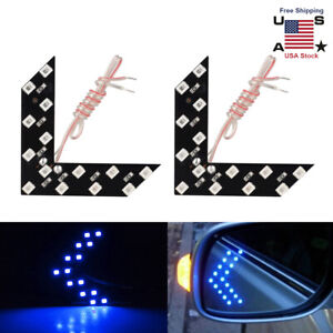 2pc Auto Car Side Rear View Mirror Led 14 Smd Lamp Turn Signal Light Accessories