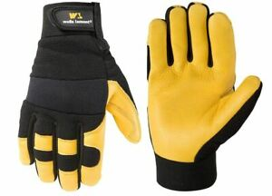 Leather Work Gloves Duty Safety X Large Wells Lamont Hydra Hyde Flexible Size Xl