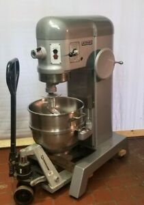Hobart H600 60 Qt Mixer 1 5 Hp 3 Ph 200 240v Stainless Bowl New Hook
