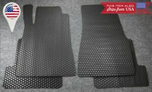 Black All Weather Oe Size Heavy Duty Rubber Floor Mats For 05 09 Ford Mustang