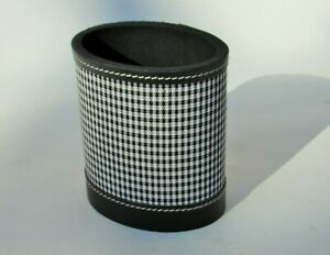 New Punctuate Baker Street Leather Houndstooth Oval Pencil Cup