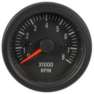 52 Mm Electrical Tachometer Gauge Black Face With Super White Led For Car