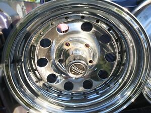 4 Chrome Bullethole Wheel Rims 15 8 5 Lugs Good Condition Came Off Chevy S10