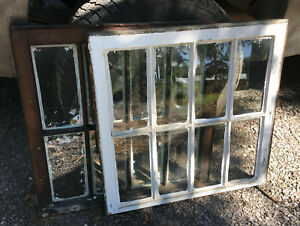 Wood Frame Window 8 Pane 28 X 27 Vintage Wooden Sash Picture Eight Glass
