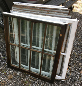 Wood Frame Window 8 Pane 28 X 31 Vintage Wooden Sash Picture Eight Glass