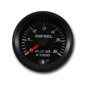 Motor Meter Racing 52 Mm 0 6000 Rpm Electrical Tachometer Gauge For Diesel