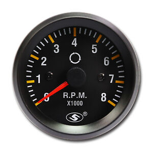 52 Mm 0 8000 Rpm In Dash Electrical Tachometer Gauge For 3 4 6 Cylinder Engine