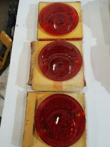 1928 1929 1930 1931 Plymouth Desoto Dodge Glass Tail Light Lens 3 Of Them