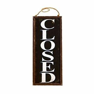 Vintage Style Wooden Business Open Closed Door Sign Home Amp Kitchen