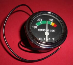 Nos Vintage Transmission Oil Temperature Gauge Ac Delco Electric Dated 1969