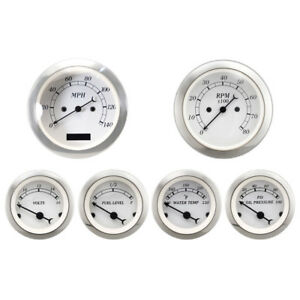 Motor Meter Racing 6 Gauge Set Classic Electronic Speedometer Digital Odometer