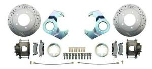 Deluxe Disc Brake Conversion Kit 41 71 Jeep 5 Lug Rotors calipers 25 27 Knuckle