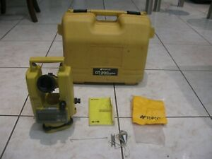 Topcon Dt 209 Optical Digital Theodolite With Original Case Dt 200