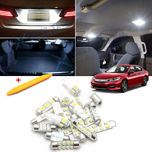 For Honda Accord 2013 2017 White Led Interior License Plate Light Kit Pkg Tool