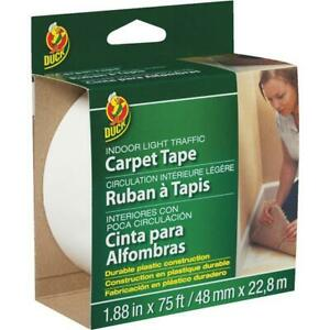 Duck Light Traffic 1 88 In X 75 Ft Indoor Double Sided Carpet Tape 3 Pk