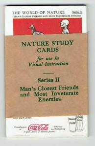 Coca Cola 1930s The World of Nature Series II - 12 Cards - Man's Closest Friends