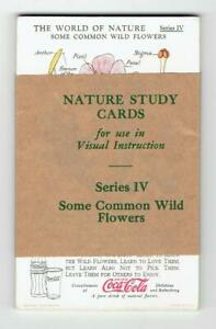 Coca Cola 1930s The World of Nature Series IV - 12 Cards - Some Common Wild Flow