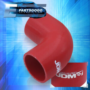 3 Inch 90 Degree Angle Red Reinforced Silicone Coupler Hose Piping Intake Race
