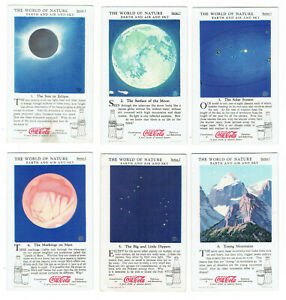 Coca Cola 1930s The World of Nature Series I - 12 Cards - Earth and Air and Sky