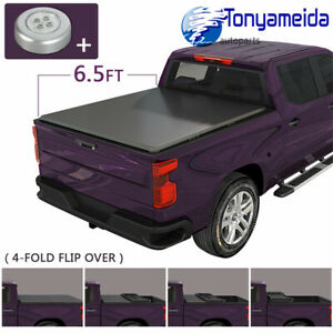4 fold Bed Truck Tonneau Cover 6 5ft Fit For Dodge Ram 1500 2500 3500 2002 2019