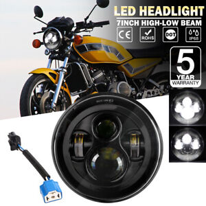 7 Inch Led Motorcycle Headlight Dot Projector High Low Beam For Yamaha V star