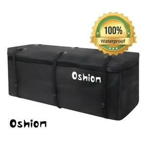 Waterproof Large Hitch Tray Cargo Carrier Bag Luggage Carrier Storage Bag Black
