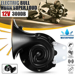 Universal 300db Loud Electric Horn Trumpet For Car Motorcycle Truck Train Black