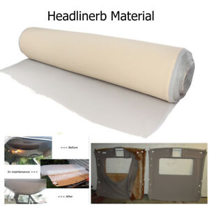 Gray Headliner Replacement Fabric Sagging Upholstery Material Back Foam 72 x60