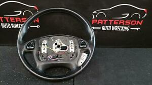 2000 Chevy Camaro Leather Wrapped Steering Wheel W Controls Shale pewter 92i